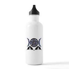 Mystic Blue Pentagram Water Bottle