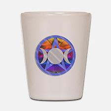 Pentagram Triple Goddess Shot Glass