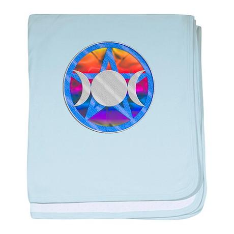 Pentagram Triple Goddess baby blanket
