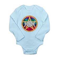 Pentagram Triple Goddess Long Sleeve Infant Bodysu