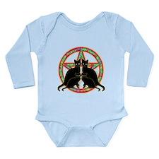 Mosaic Pentagram Cats Long Sleeve Infant Bodysuit