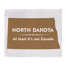 North Dakota: Not Canada Throw Blanket