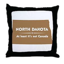 North Dakota: Not Canada Throw Pillow