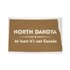 North Dakota: Not Canada Rectangle Magnet
