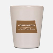 North Dakota: Not Canada Shot Glass