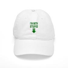 I'm With Stupid Baseball Cap