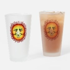 Funny Smiling sun Drinking Glass