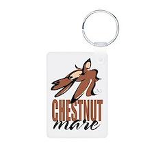 Chestnut mare photo keychain