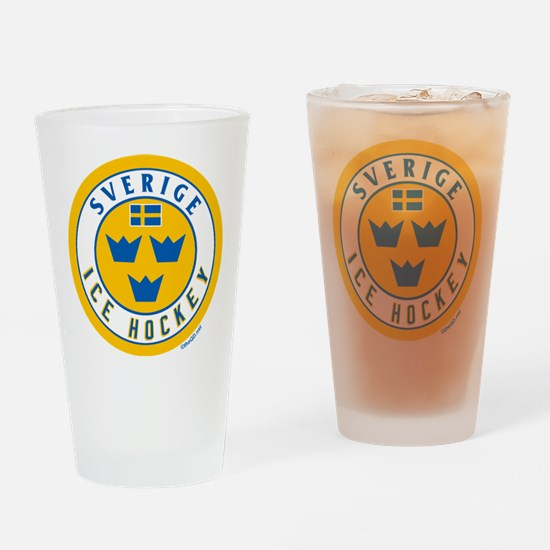 SE Sweden/Sverige Hockey Drinking Glass