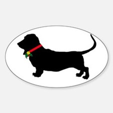 Christmas or Holiday Basset Hound Silhouette Stick