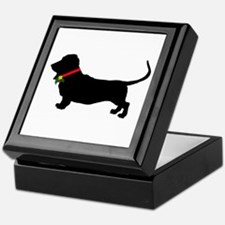 Christmas or Holiday Basset Hound Silhouette Keeps