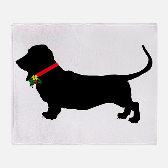 Christmas or Holiday Basset Hound Silhouette Stad