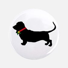 Christmas or Holiday Basset Hound Silhouette 3.5""