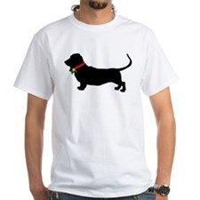 Christmas or Holiday Basset Hound Silhouette Shirt