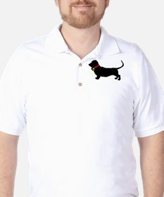 Christmas or Holiday Basset Hound Silhouette Golf