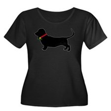 Christmas or Holiday Basset Hound Silhouette Women
