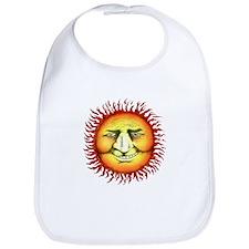 Funny Smile face sun Bib