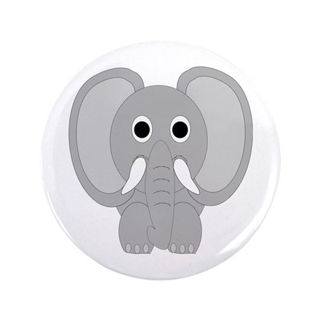 "Elephant Design 3.5"" Button (100 pack)"