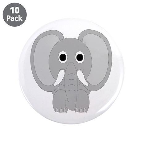 "Elephant Design 3.5"" Button (10 pack)"