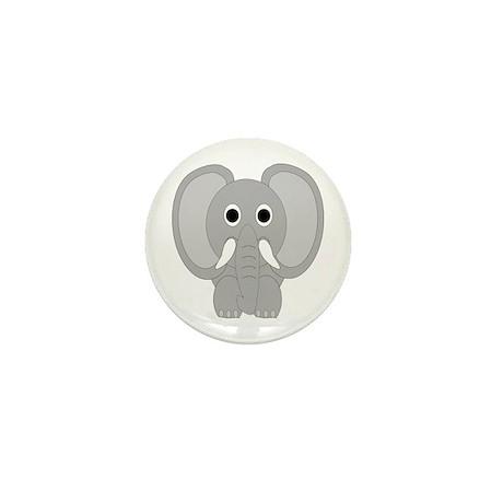 Elephant Design Mini Button (10 pack)
