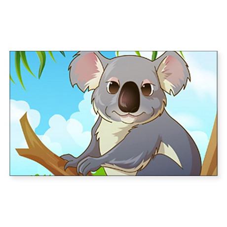 AW! Adopt A Koala! Sticker (Rectangle)