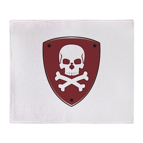 Baron Crossbones Symbol Throw Blanket