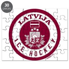 LV Latvia/Latvija Hockey Puzzle
