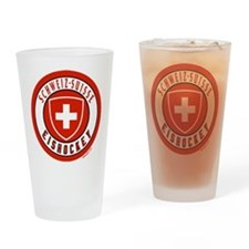 Switzerland Ice Hockey Drinking Glass