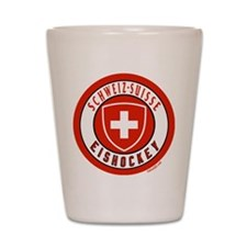 Switzerland Ice Hockey Shot Glass