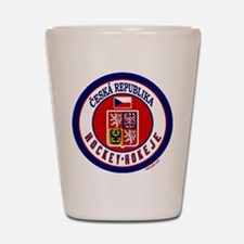 CZ Czech Rep Ice Hockey Shot Glass