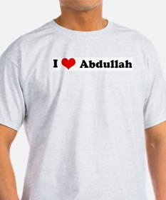 I Love Abdullah Ash Grey T-Shirt