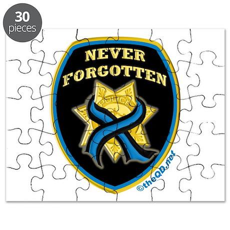 Thin Blue Line NeverForgotten Puzzle
