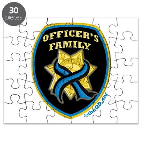 ThinBlueLine Officer's Family Puzzle