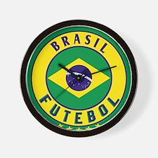 Brasil Futebol/Brazil Soccer Wall Clock