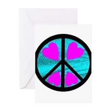 Peace Symbol with Heart™ Greeting Card