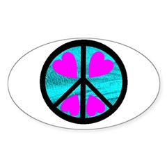 Peace Symbol with Heart™ Decal