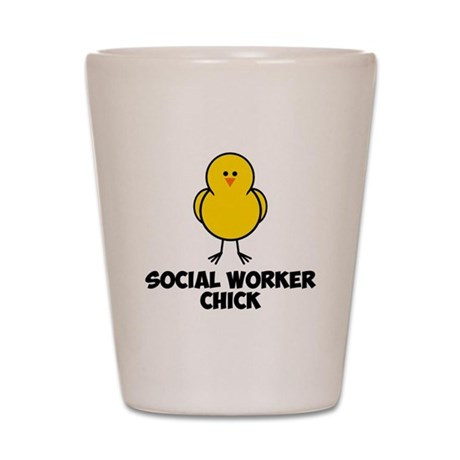 Social Worker Chick Shot Glass
