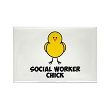 Social Worker Chick Rectangle Magnet (100 pack)