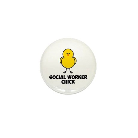 Social Worker Chick Mini Button (100 pack)