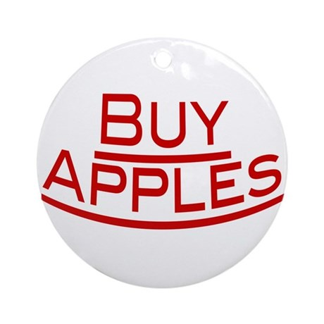 Buy Apples Ornament (Round)