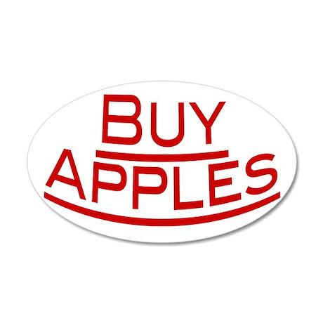 Buy Apples 38.5 x 24.5 Oval Wall Peel