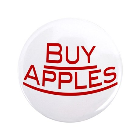 """Buy Apples 3.5"""" Button"""