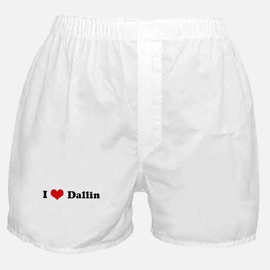 I Love Dallin Boxer Shorts
