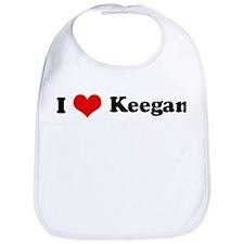 I Love Keegan Bib
