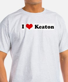 I Love Keaton Ash Grey T-Shirt