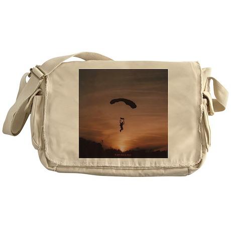 Messenger Bag with Sunset Skydiver