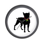 Christmas or Holiday Boston Terrier Silhouette Wal