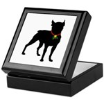 Christmas or Holiday Boston Terrier Silhouette Kee