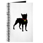 Christmas or Holiday Boston Terrier Silhouette Jou