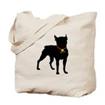 Christmas or Holiday Boston Terrier Silhouette Tot